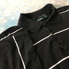 Hugo Boss Golf NO Sz Black Striped Short Sleeve Polo Men's Casual Shirt ITALY