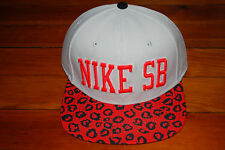 NEW Nike SB Salmon Cheetah Snapback Hat (Adjustable) 73360ddc53f9