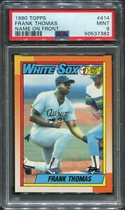 1990 Topps Frank Thomas HOF RC #414 (WHITE SOX) PSA 9