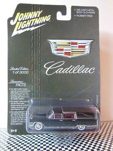 JOHNNY LIGHTNING Hobby Exclusive BLACK 1966 Cadillac Hearse 1:64