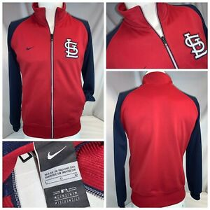 St. Louis Cardinals Nike Track Jacket L Boys Red Poly Full Zip YGI I0-381
