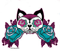 "Agorables Sugar Style Skull Rose Love Sticker Decal 4/"" x 5/"" Die-Cut Skateboard"