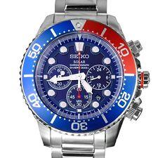 Seiko Solar Chronograph Gents 200 meter Sports Watch SSC019P1  SSC019P SSC019