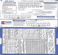 Air Duct Sizing Calculator Slide Rule Chart