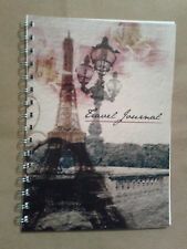 Travel diary Vintage eiffel quote