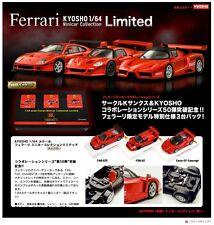 Kyosho 1/64 Ferrari F40GTE F50 GT ENZO GT Concept Red 3pcs  Minicar Collection