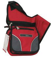 RED Messenger Sling Body Bag  Purse Small Backpack School Crossbody Shoulder