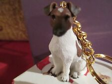 Fox Terrier Brown & White ~ Key Chain ~ Great Gift Item