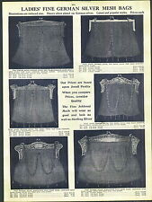 1912 AD 2 Sided German Silver Mesh Hand Bags Purse Hand Made