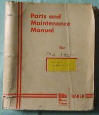 1965 BAKER FORKLIFT MODEL FJD-060 PARTS & MAINTENANCE MANUAL