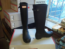 BACK  ADJUSTABLE HUNTER WELLIES IN HALIFAX AND BRADFORD SIZE 5  BLACK TALL