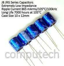 2 pezzi Condensatore 220uF 35V 105°C JB JRG Serie Long Life Ultra Low impedance