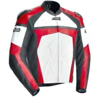 NEW TOURMASTER JACKET RIDING BLACK WHITE RED LEATHER SIZE LARGE WITH TAGS