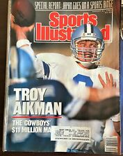 SPORTS ILLUSTRATED August 21, 1989 Dallas Cowboys QB Troy Aikman - VG