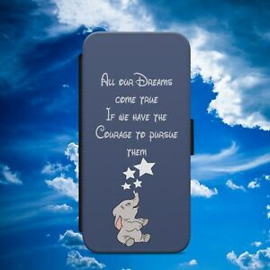 DISNEY DUMBO ELEPHANT FLIP WALLET PHONE CASE COVER FOR IPHONE SAMSUNG HUAWEI