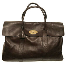 2K+ Mulberry XL Dk Brown Leather Piccadilly / Bayswater Holdall Bag