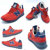 Rare New Balance US574XAD Made In USA Connoisseur Red Blue Men's Size 7.5 US