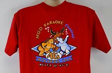 Bacardi Al's Alaskan Inn Men's L Red T-Shirt, Anchorage Alaska Karaoke Large Tee