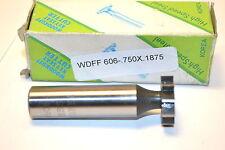 "NOS TRAVIS TOOL  KOREA #606 HSS Woodruff Keyseat Cutter 3/4"" x 3/16""  WR13bH5B"