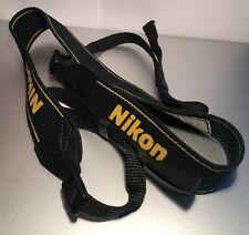 "Genuine Nikon AN-DC3 1.375"" Black/Yellow Neck/Shoulder Strap For SLR/DSLR"