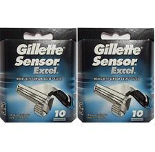 Hojas de afeitar de Gillette Sensor Excel Recargas, 20 Cartuchos