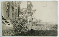 "Real Photo Postcard Divided Back 1907-1914  3 x 5"" CYKO postage box  young girl"