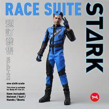 1/6 DJ_Custom DJ-012 Iron Man 2 Tony War Damage Head sculpt Helmet Racing Suit
