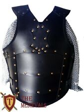 Genuine Leather Vest  Medieval LARP Armor, Viking SCA renaissance  Black