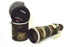 Canon EF 500mm F4 L IS USM Potente Teleobiettivo con rivestimento camouflage