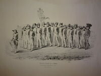 GRANDE Litho VIEUX SOLDATS de l'EMPIRE GROGNARDS NAPOELON III LILLE NORD 1853