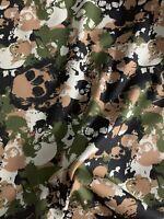 Stoff Baumwolle Popelin Tiere Zebra Katze beige grün Blusenstoff Kleiderstoff