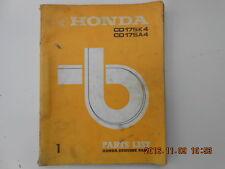 honda  . cd 175 k4 . cd 175 a4 . parts list