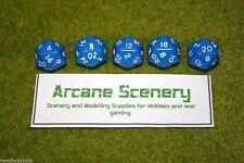 TWENTY SIDED DICE D20 BLUE Opaque For Wargames & Games Workshop