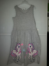H&M Girls UNICORN Rainbows Sleeveless Summer Cotton Dress Age 6-7-8 years