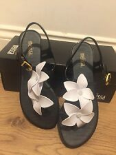 Melissa Black and White Solar Hawaii Sandals UK 3/EU 36