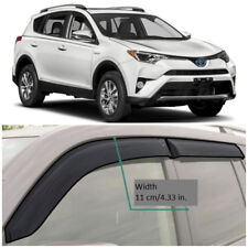 Wide Window Visors Side Sun Rain Guard Vent Deflectors For Toyota Rav4 2013-2018