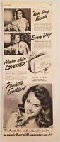 1945 Print Ad Lux Bar Soap Beautiful Actress Paulette Goddard