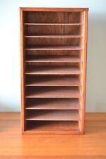 Vintage wooden pigeon holes  storage file office wood