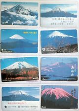 art.1539-n.8 telephons cards, mountains, Japan, Giappone
