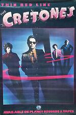The Cretones 1980 Thin Red Line Rare Original Promo Poster