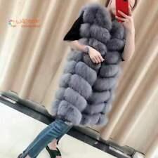 Damen Fox fur vest jacket Echt Weste Pelz Fuchs Pelz weste Fuchs Schöne Fur Coat