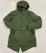 Scotch & Soda Fleece Lined Parka Jacket Khaki Green Mens Size UK M  *REF174