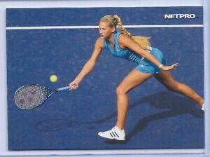 "Anna Kournikova 2003 "" 1ère Ever Imprimé' Netpro Photo Tennis Carte Rookie #4"