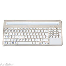 B021 Ultra-slim Wireless Bluetooth Keyboard with Multi-touch Touchpad Champagne