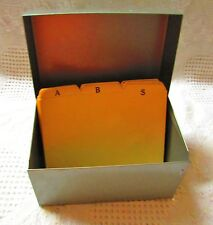 Metal Index Card File Holder By J Chein Amp Co