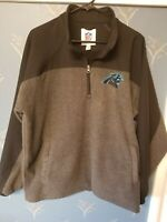 NFL Carolina Panthers Mens Fleece 1/4 Zip Jacket Size Extra Large XL Gray Black