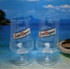 2 x San Miguel Pint Glasses 20oz 100% Official Brand New