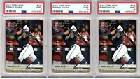 2018 TOPPS NOW #125 RONALD ACUNA (3 CARD LOT) PSA MINT 9 ROOKIE