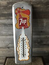 Vintage 7up Thermometer Advertising Sign