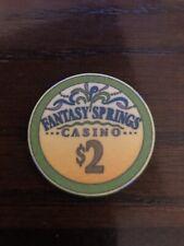 New listing $2 Fantasy Springs Casino Chip Indio California